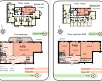 2-уровневая квартира 128.5 кв. м